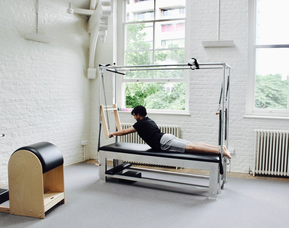 Pilates practitioner at bePilates studio.