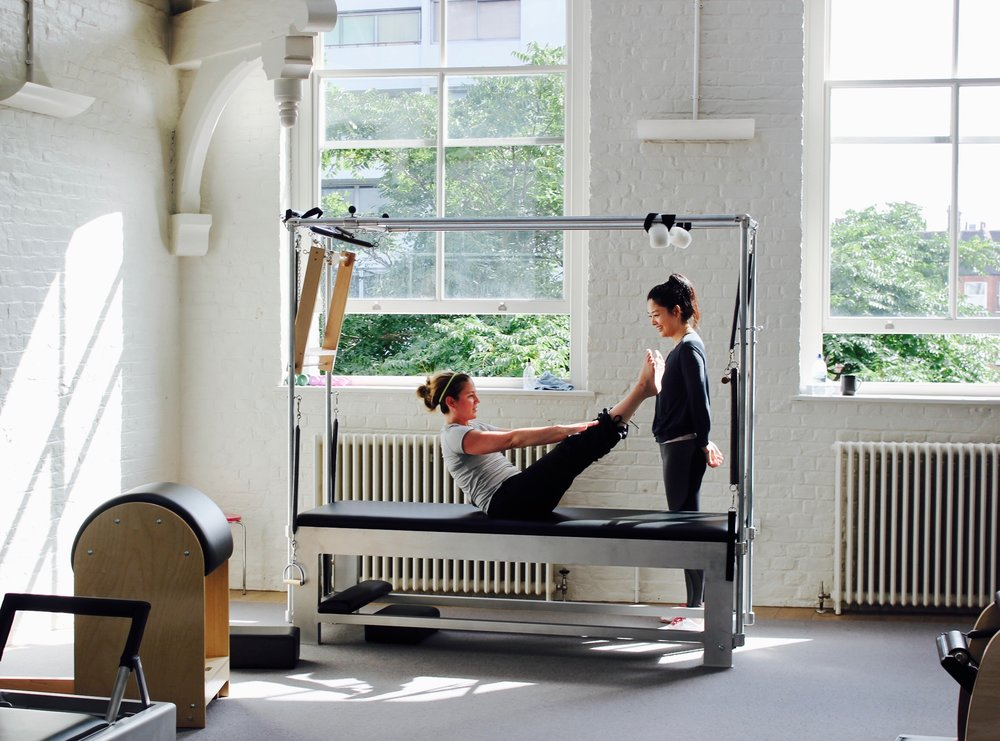 """1-to-1 lesson at bePilates studio in London (exercises on the """"Cadillac"""")"""