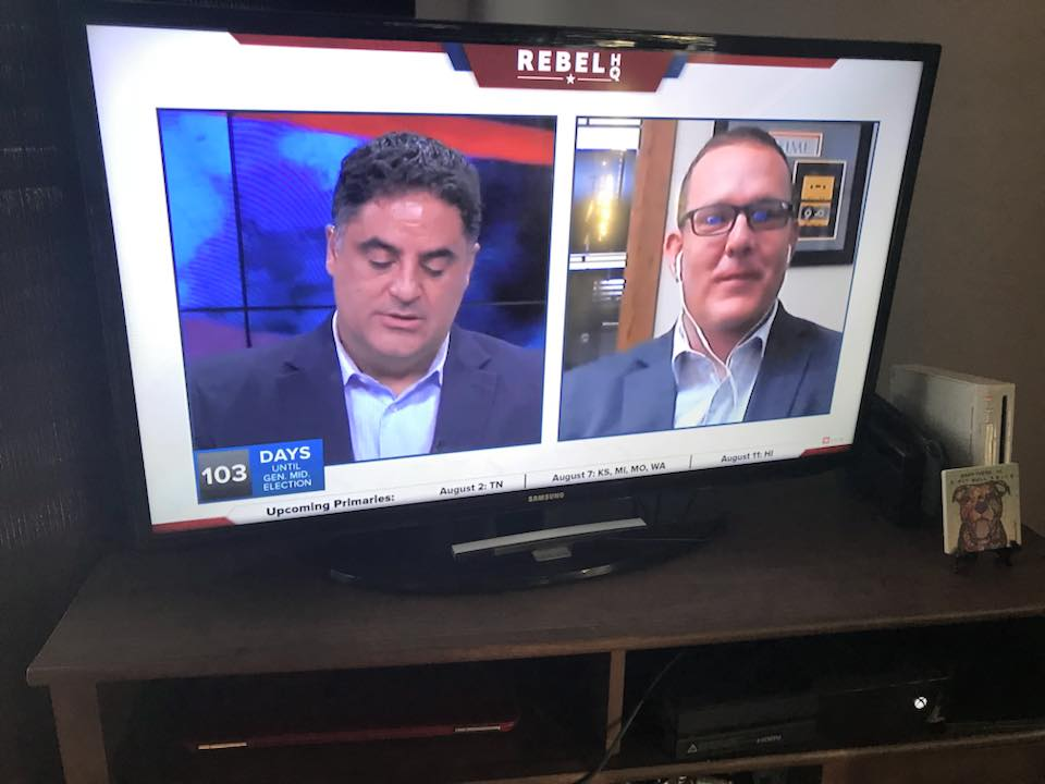 Jamie being interview by Cenk Uygur of  The Young Turks.
