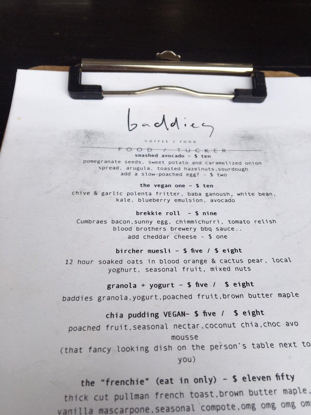 Brunch at Baddies | Baddies Menu | Travel and Lifestyle Blogger | Toronto Ontario