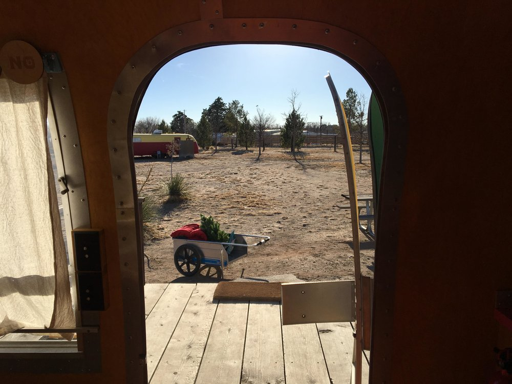 El Cosmico | View From The Trailer | jumpseatjenny | Marfa Texas