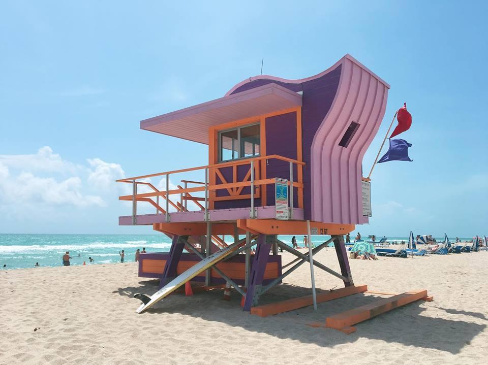 The Insta-Worthy Lifeguard Huts of South Beach | Purple | jumpseatjenny | Miami Florida.jpg
