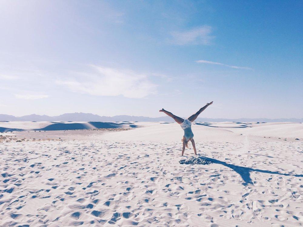 The Worlds Largest Gypsum Sandbox | Cartwheels | jumpseatjenny | New Mexico