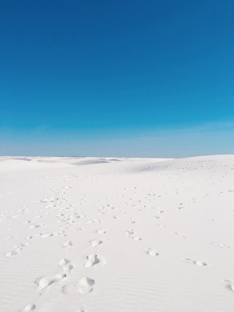 The Worlds Largest Gypsum Sandbox | Infinity Sand | jumpseatjenny | New Mexico