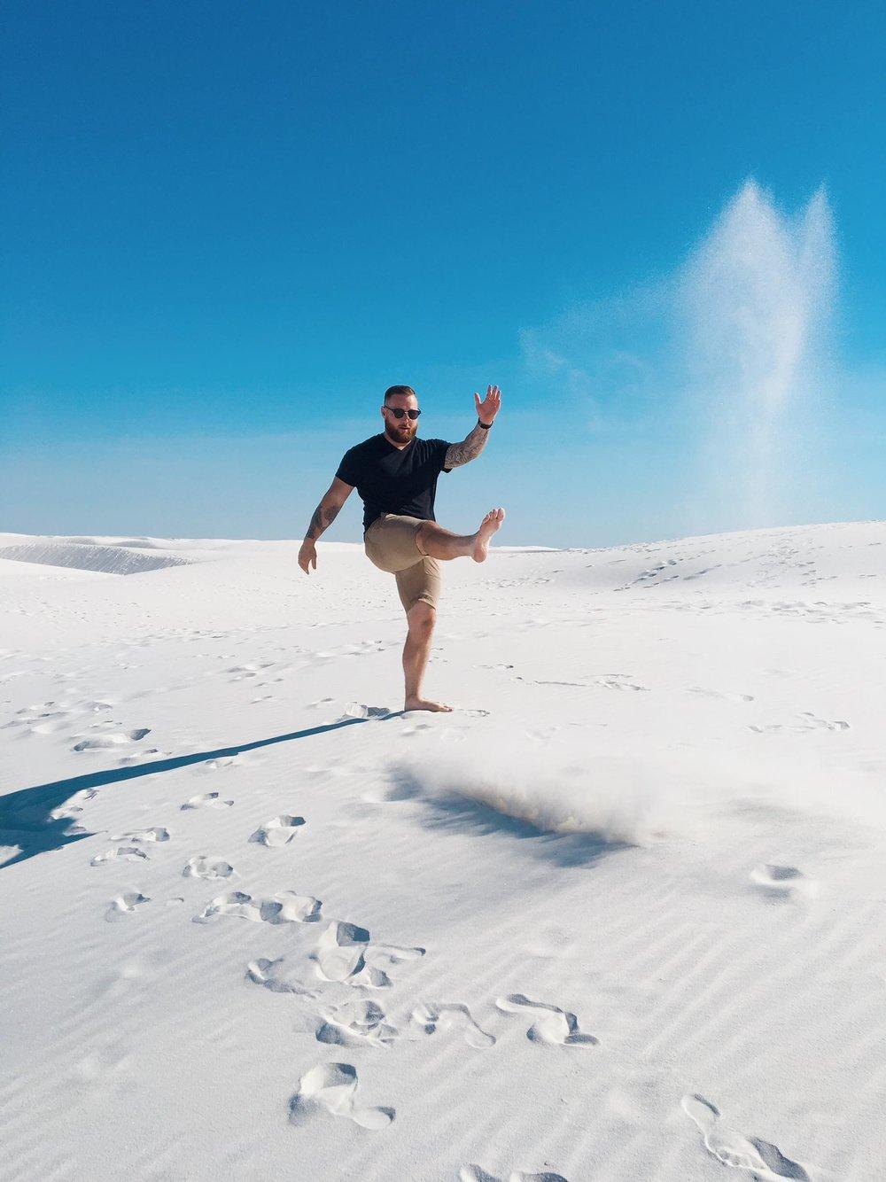 The Worlds Largest Gypsum Sandbox | Kicking Sand | jumpseatjenny | New Mexico