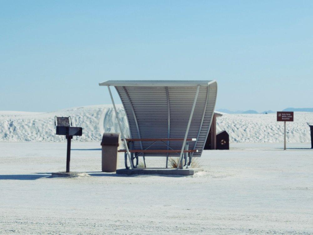 The Worlds Largest Gypsum Sandbox | Picnic Hut | jumpseatjenny | New Mexico