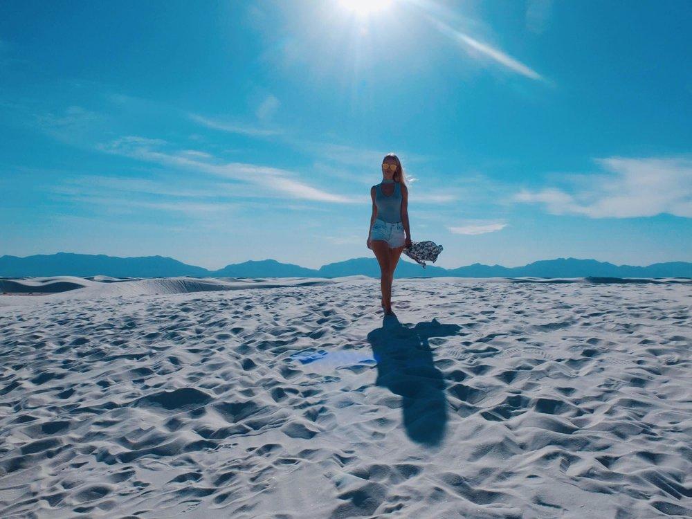 The Worlds Largest Gypsum Sandbox | Road Well Traveled | jumpseatjenny | New Mexico