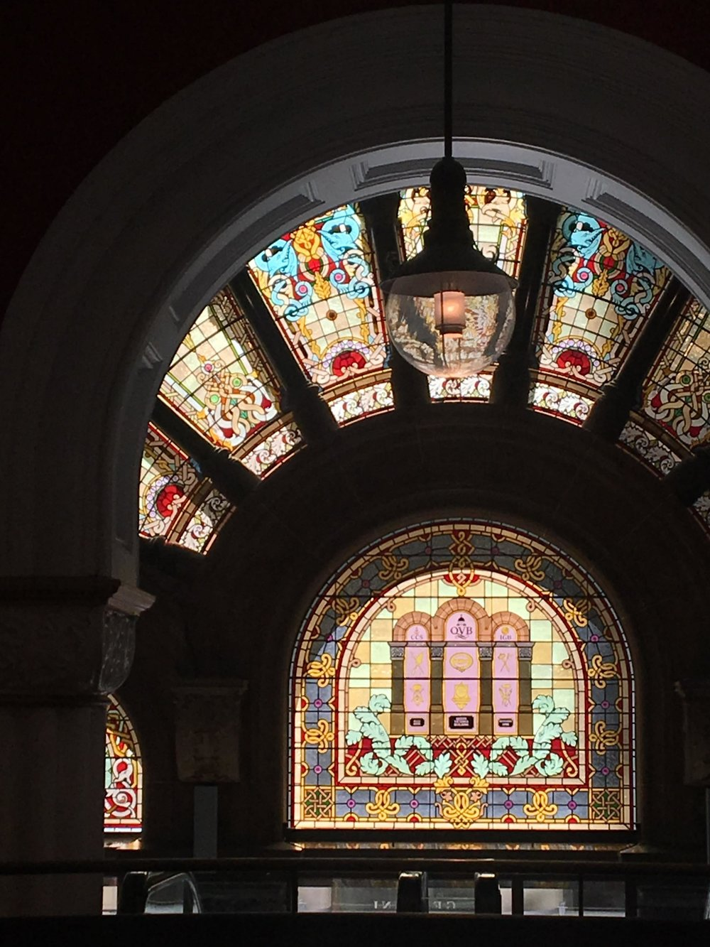 Australias Beautiful Shopping Arcades   The Down Under Series   The Strand Stained Glass Dark   jumpseatjenny   Sydney, NSW.jpg