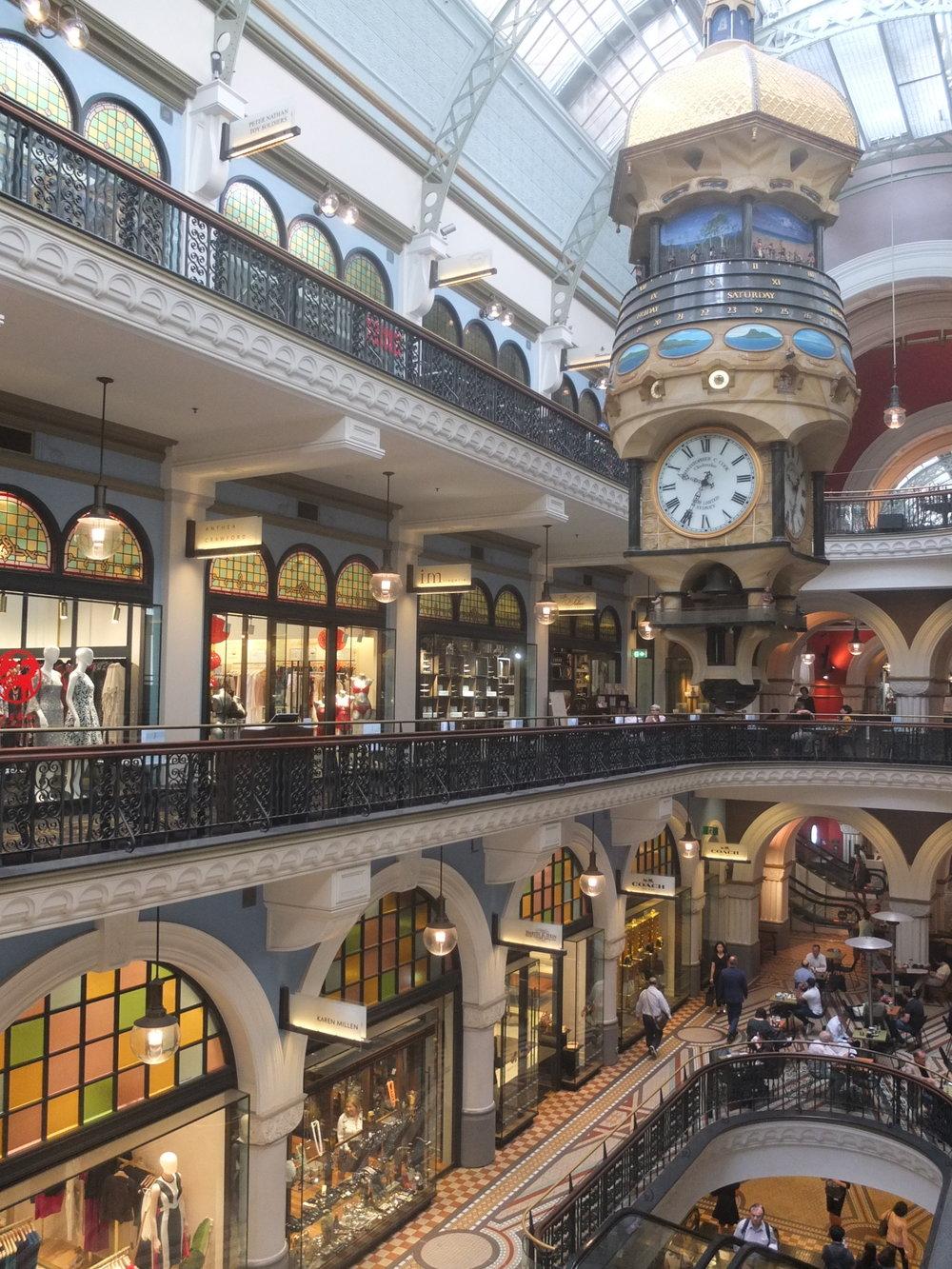 Australias Beautiful Shopping Arcades   The Down Under Series   The Strand Clock   jumpseatjenny   Sydney, NSW