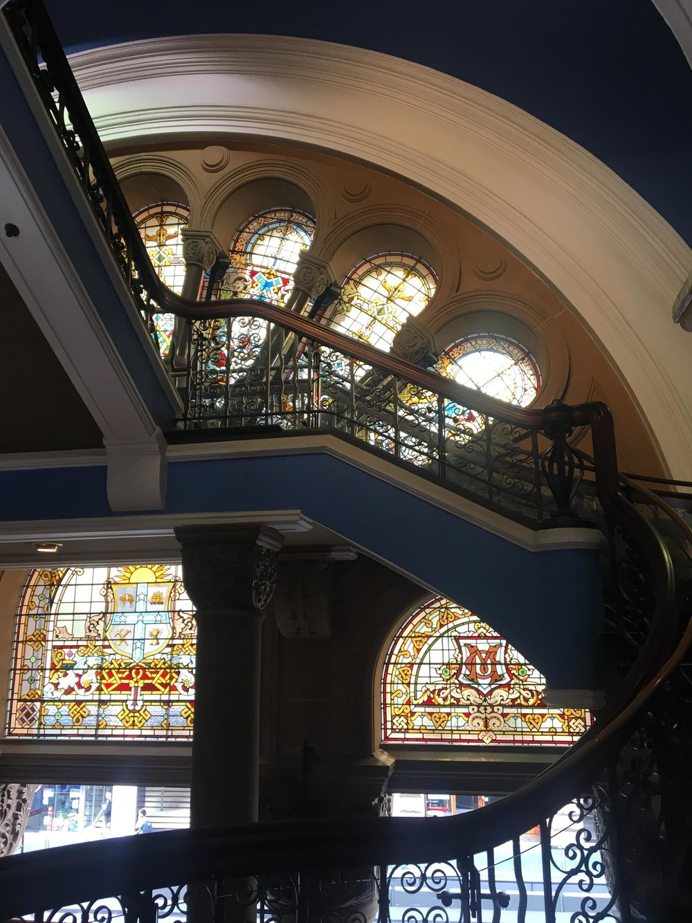 Australias Beautiful Shopping Arcades   The Down Under Series   The Strand Stained Glass & Banister   jumpseatjenny   Sydney, NSW