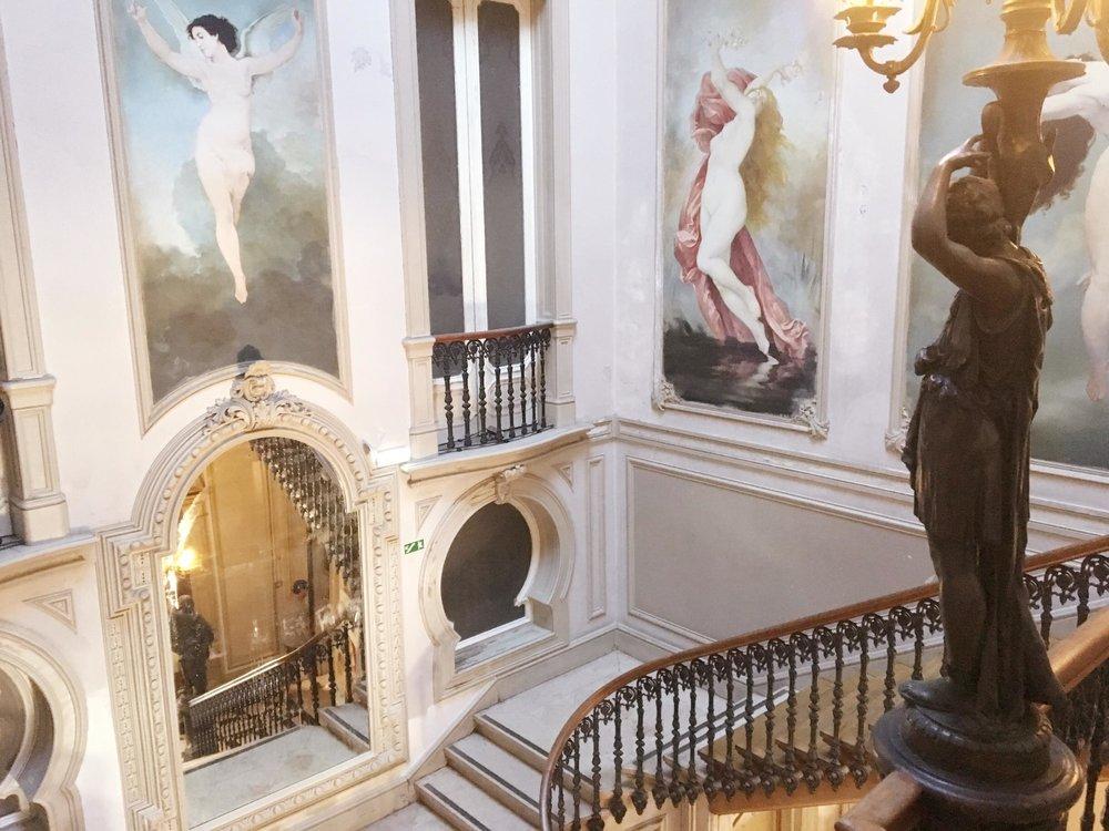 Layover In Lisbon   Ribeiro da Cunha Palace Grand Staircase   jumpseatjenny   Lisbon Portugal.jpg