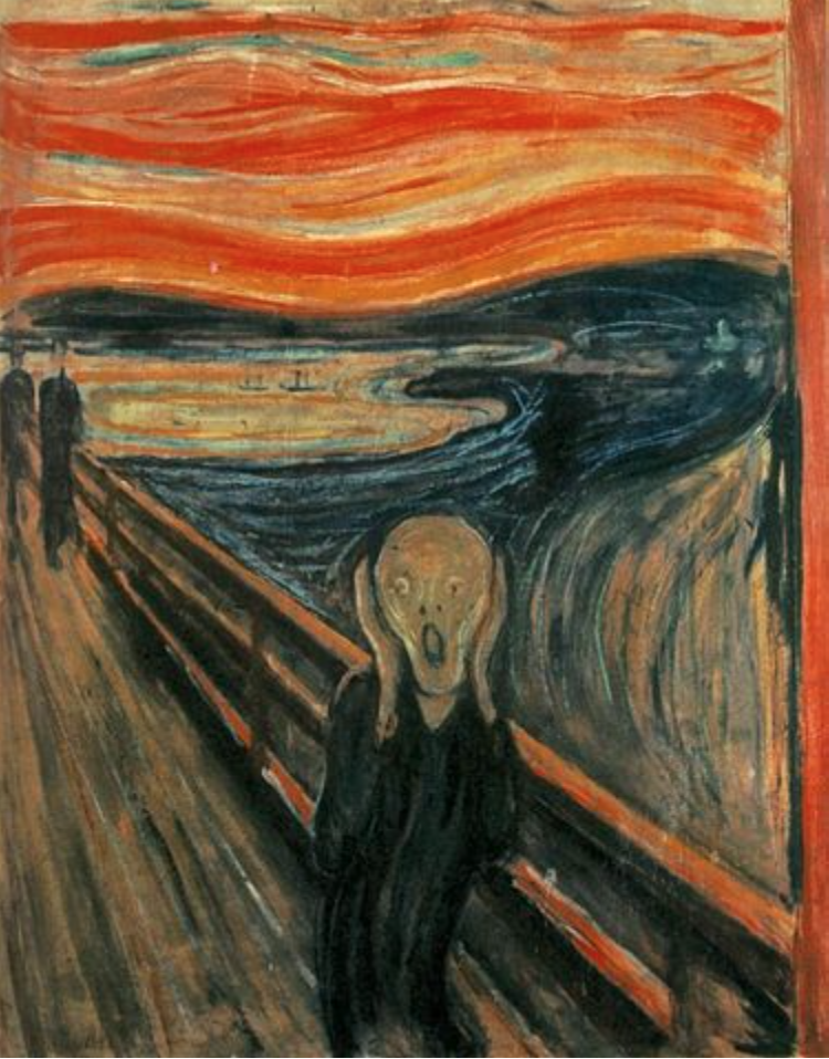The Scream.  Painting by Edvard Munch, 1893