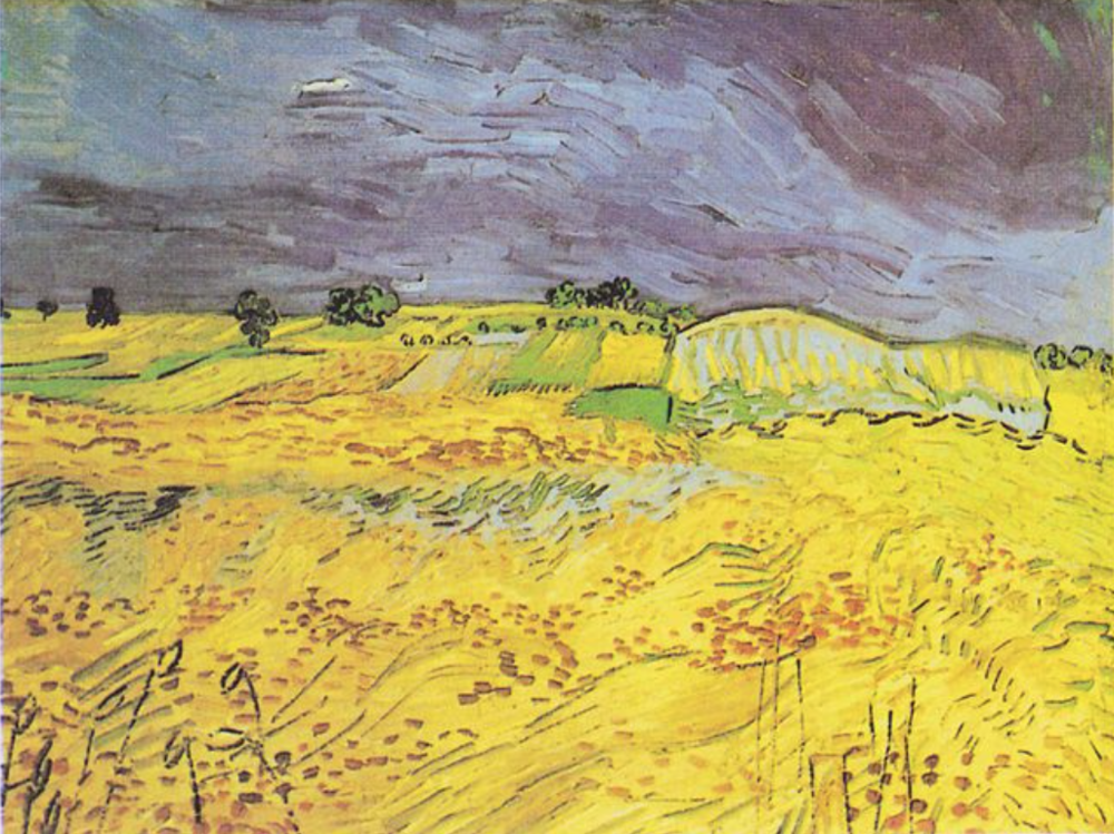 The Fields . Painting by Vincent van Gogh, 1890.