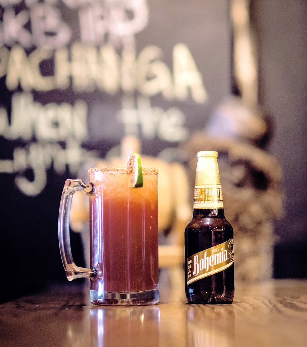 IXCA Michelada and beer