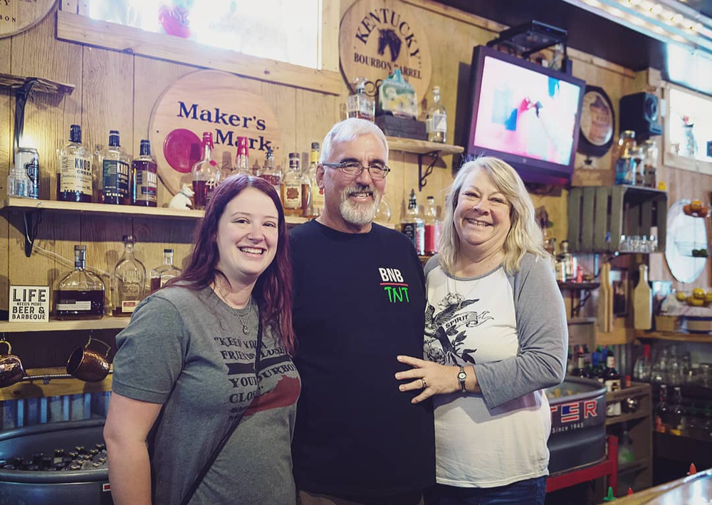 (Pictured above)  Marcia and David Huff,Marcia's daughter Marley Sommers who helps manage the restaurant.