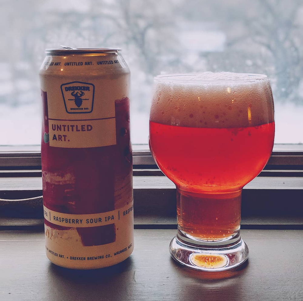 Untitled Art and Drekker Brewery Raspberry Sour IPA beer review