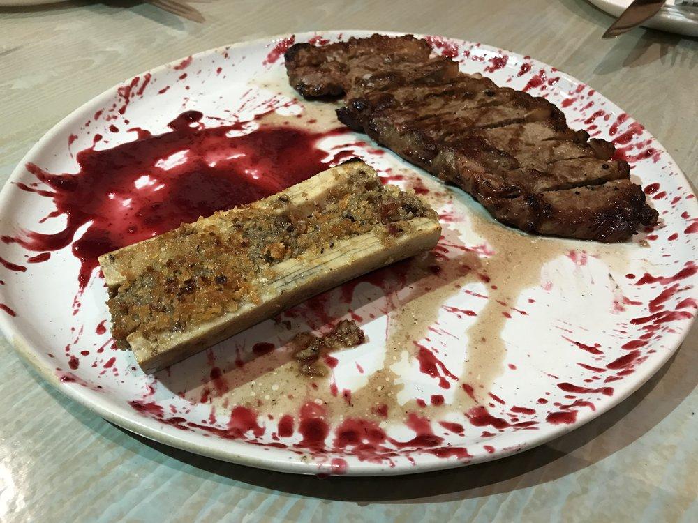 Stuffed Marrow & Steak