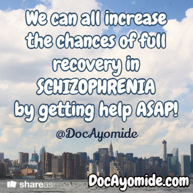 We can increase chances of recovery by acting early!