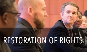 The Governor the sole discretion to restore civil rights , not including firearm rights. Individuals seeking restoration of their civil rights are encouraged to contact the Secretary of the Commonwealth's office.  Details here
