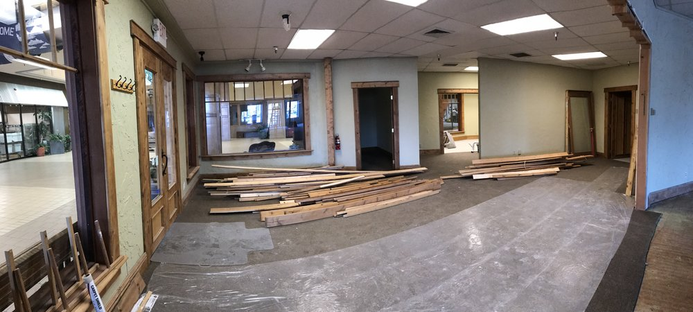 The new space before the makeover. Some things take a strong vision and tons of determination to achieve the outcome.