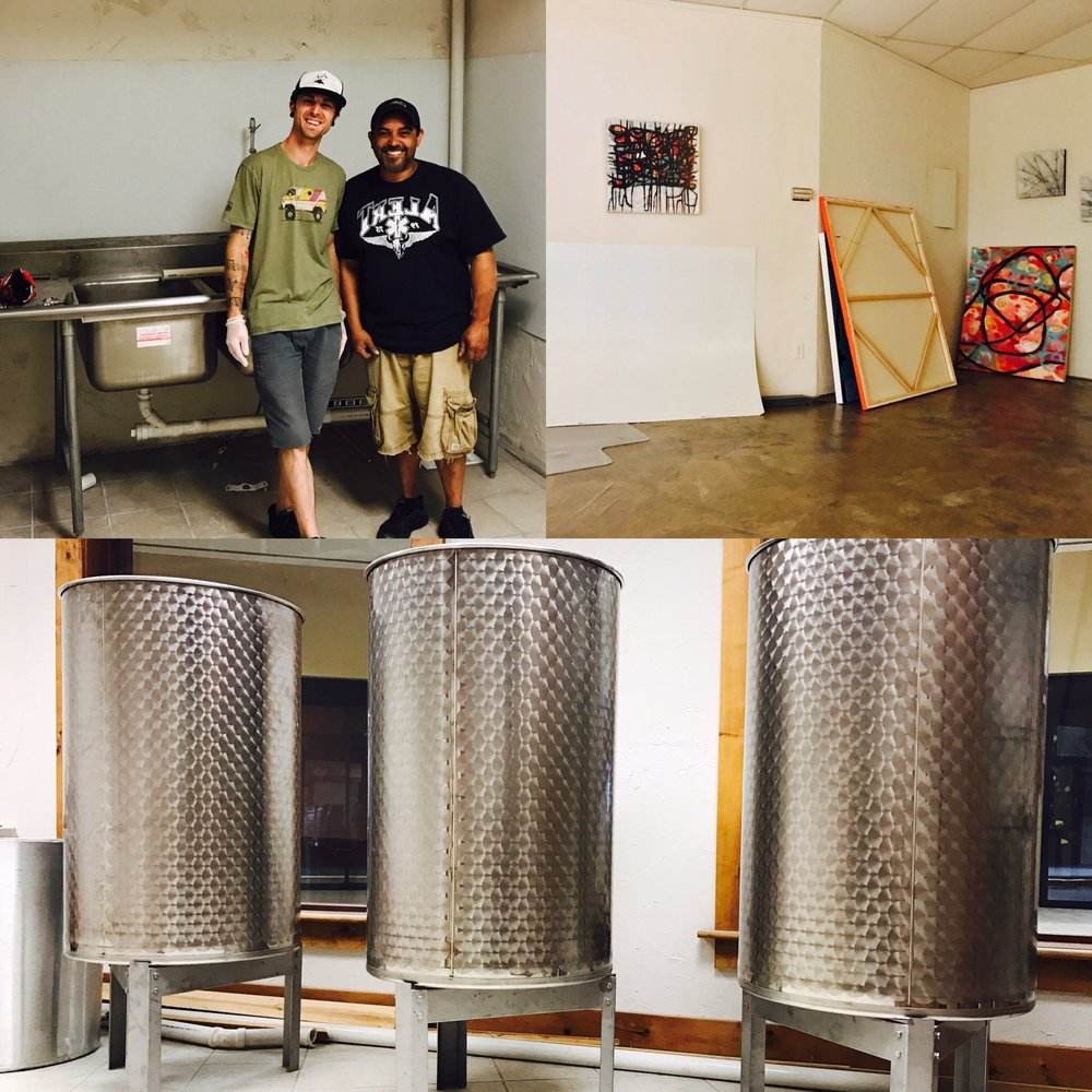 Things are coming along. Friend and major asset, Ryan, plumbing our new kitchen space and teaching us a few things about pipes. Cheers, Ryan!
