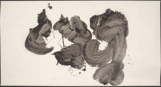 Katsu (Shout)  by Inoue Yuichi. Ink painting. Photo courtesy of the Portland Art Museum.