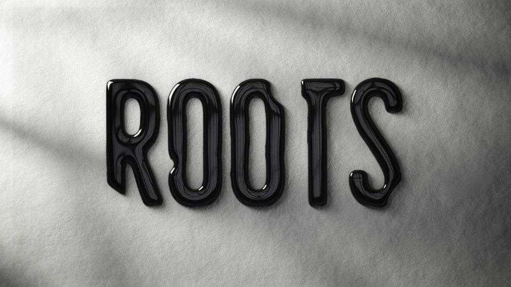 """Roots"" logo development – Liquid Ink."