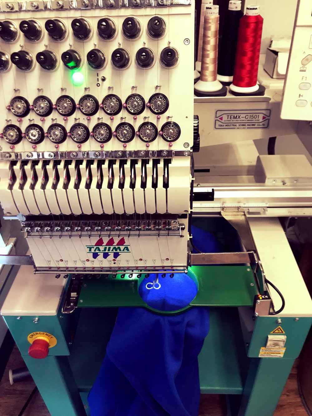 Our 1 head machine specializes in personalization!