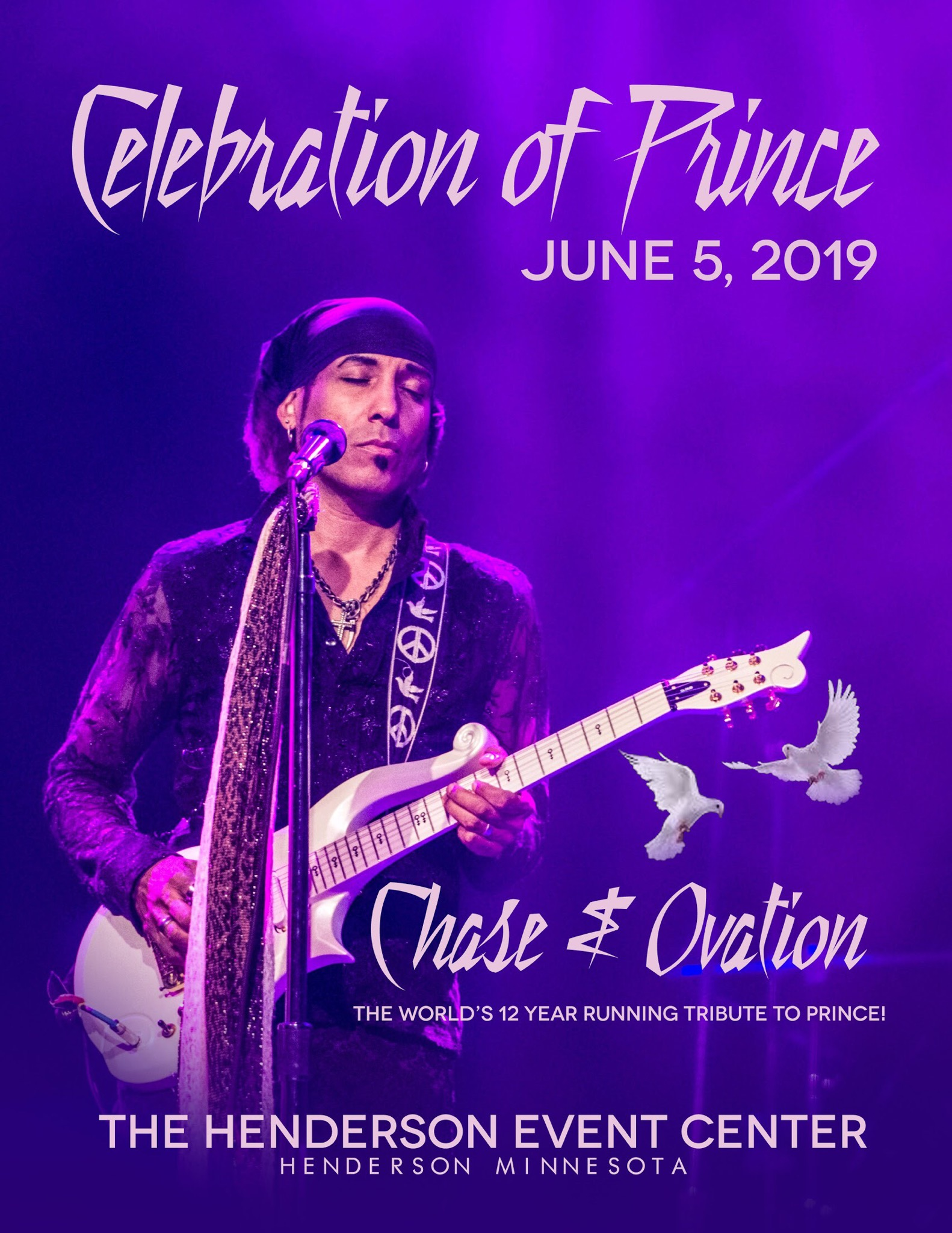 Upcoming Shows — Chase & Ovation: A Salute to the Music of PRINCE