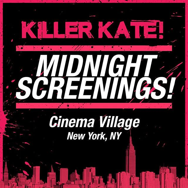 If you're in New York, be sure to check out the midnight screening of Killer Kate at @CinemaVillage  Get your tickets: https://bit.ly/2yVO1ep