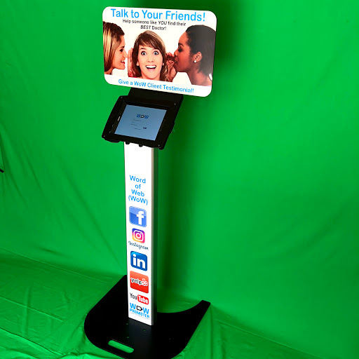 The Floorstand Kiosk - The Floorstand Kiosk is a heavy-duty stand meant to stand-alone in institutional settings (museums, hospitals, etc.) with signage to your clients will understand immediately WHY the Kiosk is there and WHAT the Kiosk is intended to for - Video Client Testimonials!