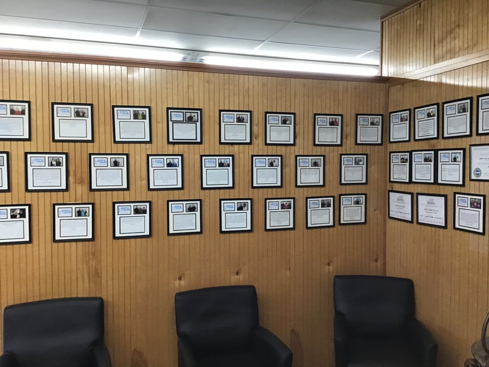 Testimonial Wall in a Chiropractor's Office