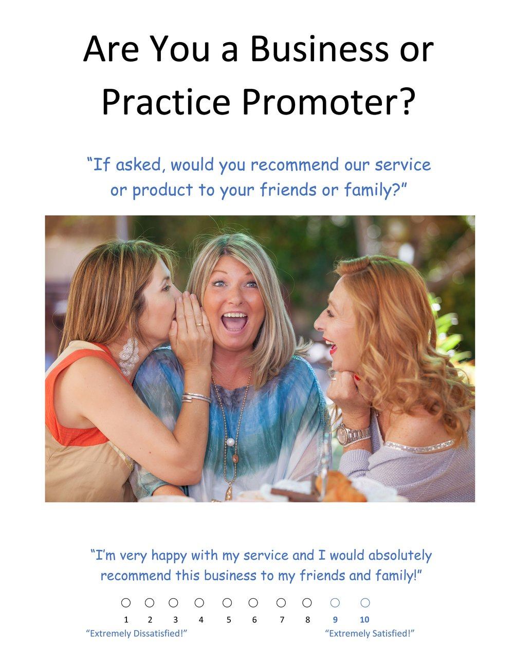 Net Promoter Score Prompt Poster - Display your prompt on the wall or counter-top in a small business setting.