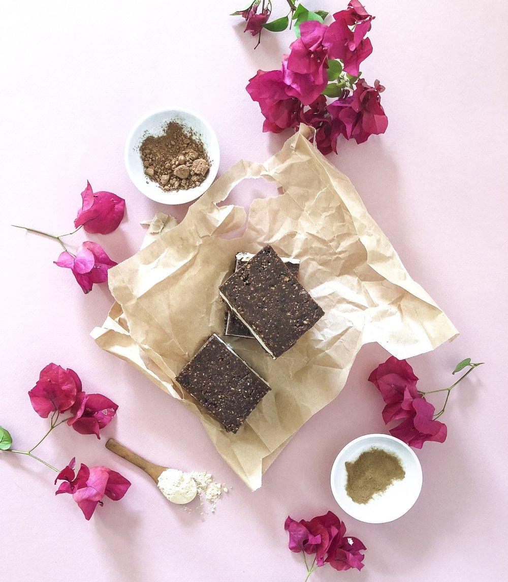 Adaptogenic Peanut Butter & Chocolate Ice Cream Sandwiches -