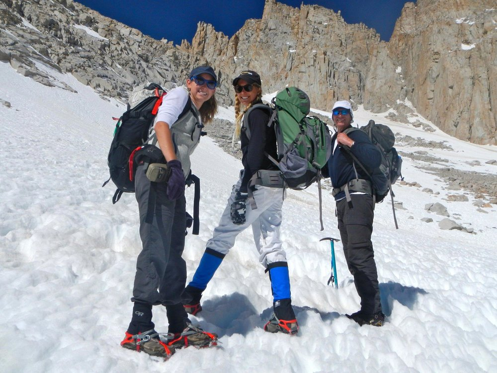 Up the couloir on Mount Whitney with Whitney #inception.