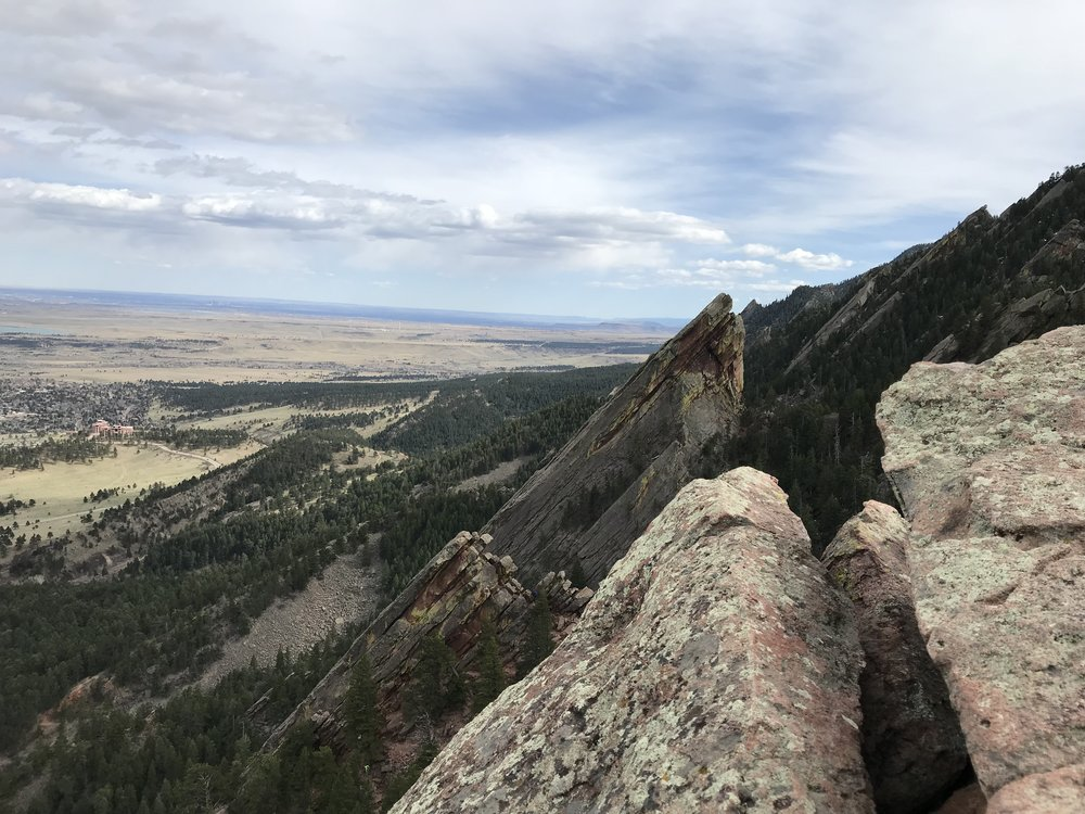 A view of the Second Flatiron from the top of the First. So pretty!