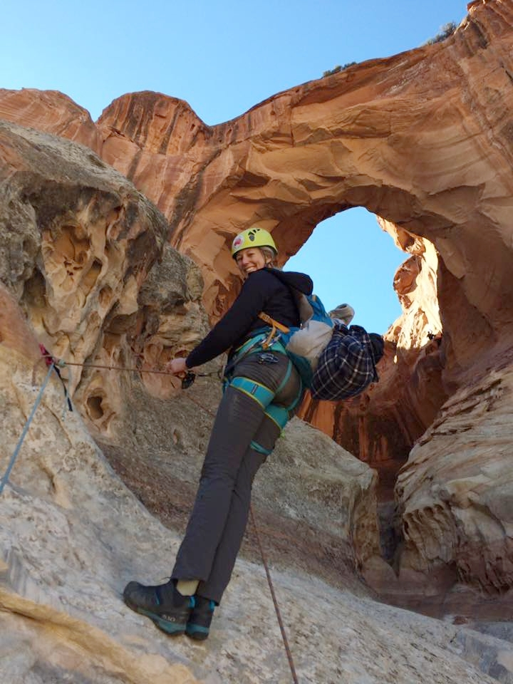 Rappelling at Capitol Reef National Park