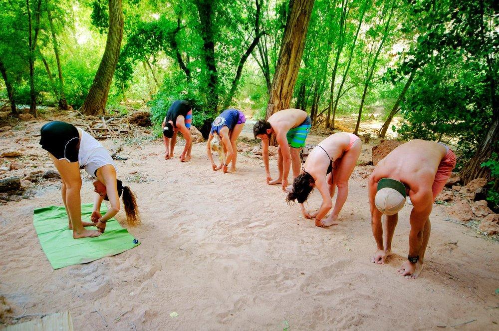 Nate captures some campsite yogs