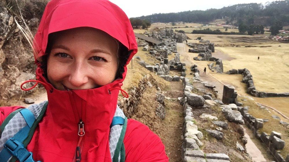 Keeping me dry in Cusco!