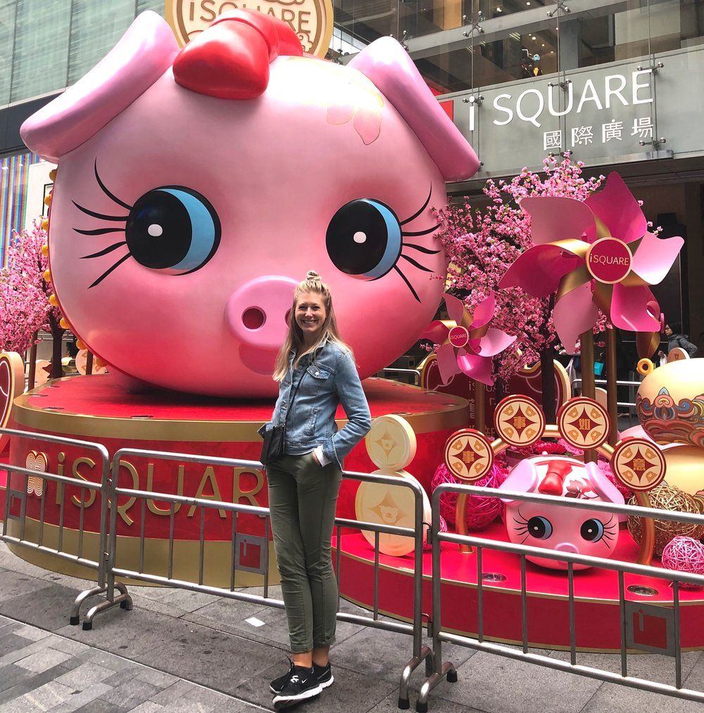 I LOVE that I am turning 30 in The Year of the Pig. Here I am in Honk Kong with the Piggies!