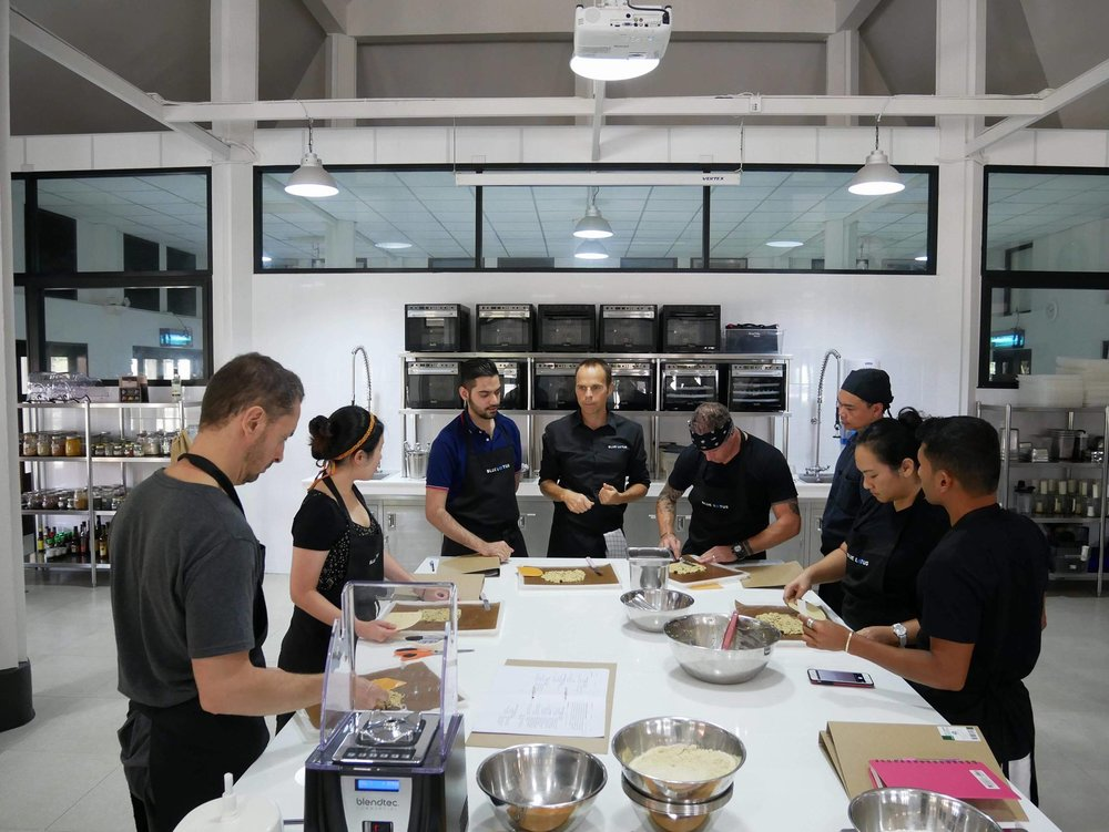 Learning Center - At Blue Lotus, we have created a vibrant, young and unique learning space for you to become a certified plant-based chef, right in the heart of South-East Asia. Our instructors are experienced chefs who will provide you with great knowledge and mentorship to take your learning experience to a new level.
