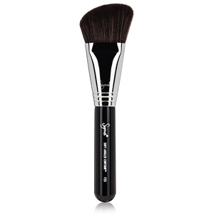 Angled Contour Brush   Great for applying blush, bronzer or highlighter, an angled contour brush is one of the most versatile tools you should have in your arsenal. With a slightly angled cut and soft fibers, this brush picks up just the right amount of powder for beautiful application.   Try:   Sigma Beauty F23