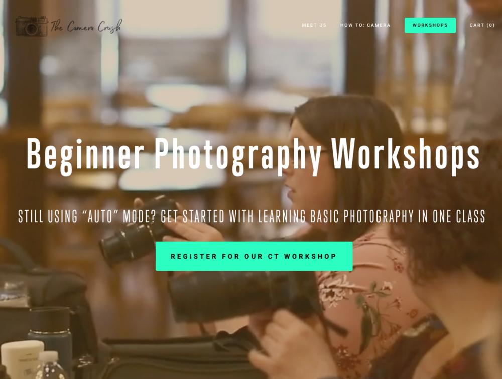 connecticut beginner photography workshop