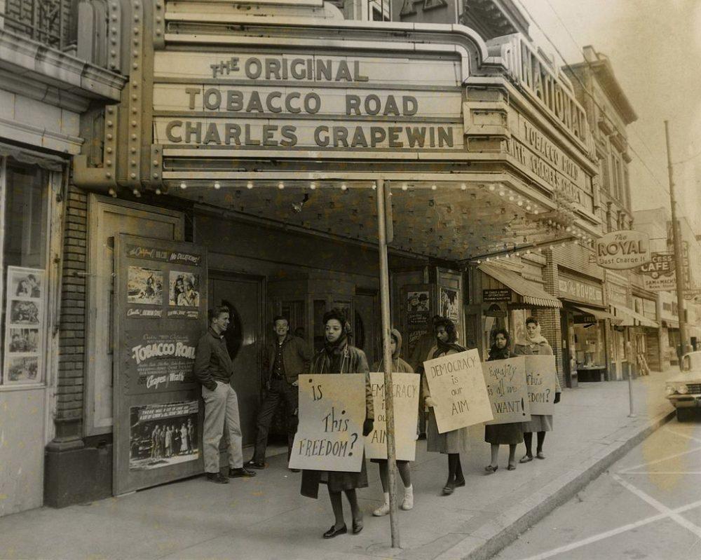 Bennett Belles protesting in 1960