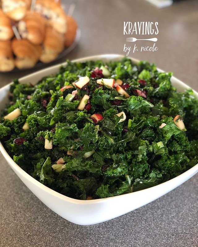 """Kravings"" celebrated love today by providing the food for a bridal shower.  Very tasty menu that includes, Kale Salad, Hot Crab Dip, Chicken Salad Sandwiches on Croissants, Jerk Chicken and Mac n' Cheese 😋 We provided the desserts and the Sangria Bar as well. Congratulations to the lovely bride!  #KravingsbyKnicole #KLeakeEventConsulting #kale #crab #jerkchicken #jerkchickenwings #macncheese #catering #caterer #dmvcatering #foodporn #foodie #desserts #desserttable"