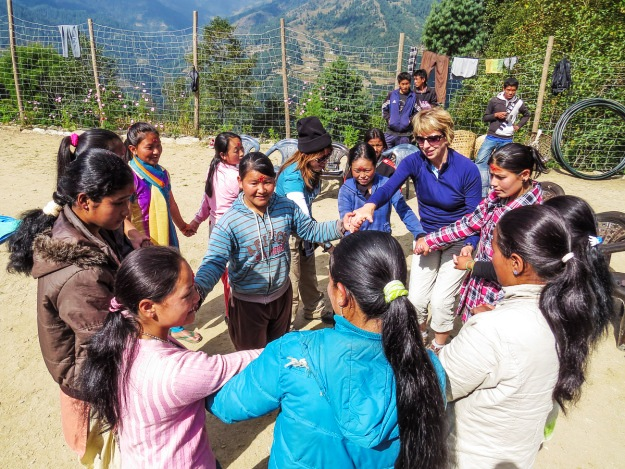 The Small World long term supporter and honorable member Ruth sharing her vision about girls education and its impact in girls family, community & globally during her trip to Nepal.