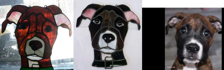 Custom Stained Glass   For the pet lover in your life - a custom stained glass piece. Kim Cunningham created one for my puppy and I've commissioned gifts for friends. They're always incredible whether they're large pieces or small ornaments!  Check her out:  https://www.facebook.com/kimcunninghamcustomstainedglass