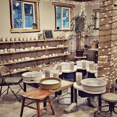 Pottery Classes with Dog Paw Pottery   I signed up for Meg's grounding in clay classes last winter and they were incredible. Getting your hands dirty and doing something creative is such a great way to relax and take your mind off of everything else. There's something special about spinning clay on the wheel (and sometimes infuriating) but with Meg's guidance you get to practice non-attachment while still coming out with some great pieces!  Check her out:  http://www.dogpawpottery.ca/
