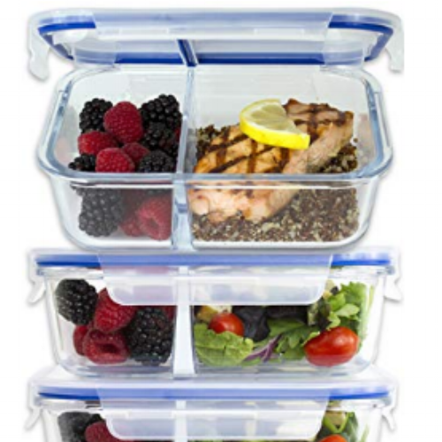 Glass Divided Containers   These containers are a game changer! I love using glass for food storage and the divided sections are awesome for bring lunch to work.  Check them out:  https://www.amazon.ca/Compartment-Containers-Airtight-Tupperware-BPA-Free/dp/B075CTKZW8/ref=sr_1_4?ie=UTF8&qid=1544389779&sr=8-4&keywords=glass+tupperware