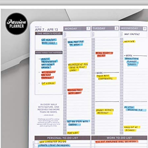 Passion Planner   For the entrepreneur in your life - I looooove these planners! They separate personal and work to do lists, have sheets for monthly goal setting and reflections, include motivational quotes and more Did I mention the covers are BEAUTIFUL!? These planners keep me organized year round.  Check them out:  https://passionplanner.com